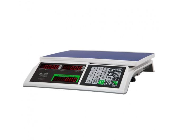 """Торговые настольные весы M-ER 326 AC-15.2 """"Slim"""" LED Белые"""